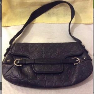 Salvatore Ferragamo PVC / Leather Gancino Handbag